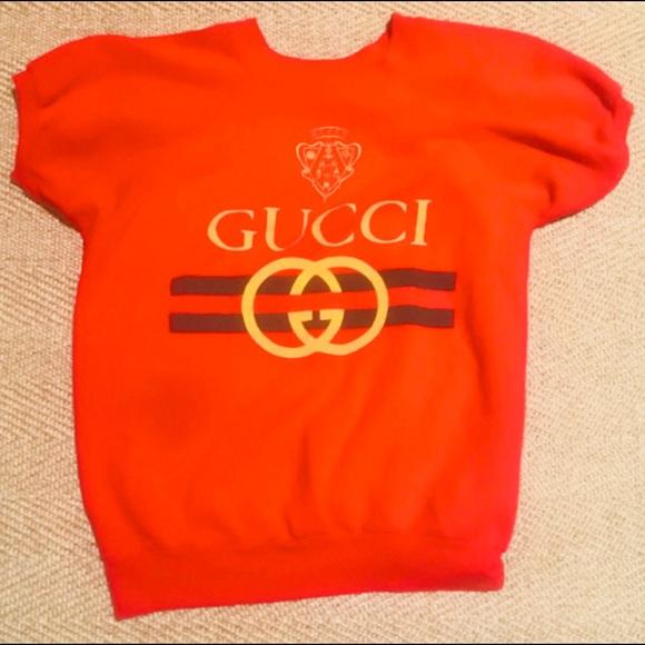 bdc22a785d4 Gucci Tops - Original 1980 s bootleg Gucci sweatshirt